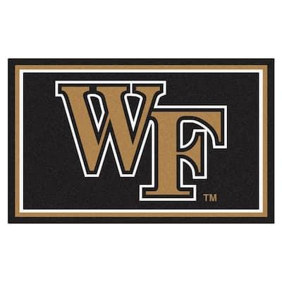 NCAA - Wake Forest University Black 4 ft. x 6 ft. Area Rug