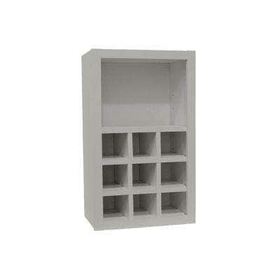 Shaker Assembled 18x30x12 in. Wall Flex Kitchen Cabinet with Shelves and Dividers in Dove Gray