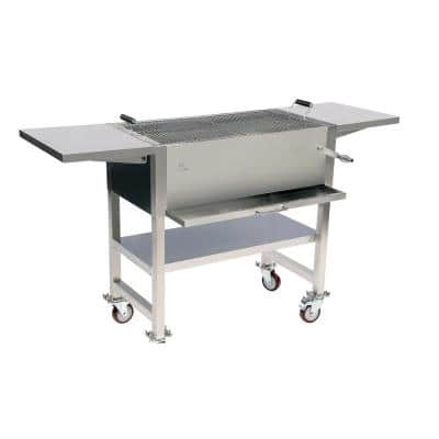 Stainless Steel Charcoal Grill in Grey