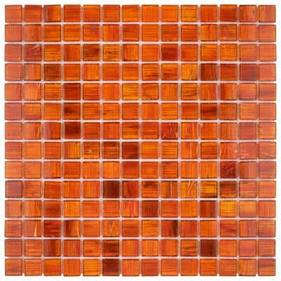 Coppa Genghis Red 12 in. x 12 in. Glass Mosaic Tile (13.27 sq. ft. / Case)