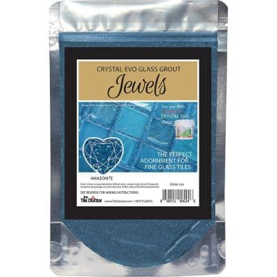 Crystal Glass Grout Jewels Amazonite 75 grams (1-Pack)