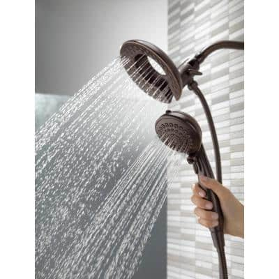 In2ition Two-in-One 5-Spray 6.8 in. Dual Wall Mount Fixed and Handheld Shower Head in Venetian Bronze