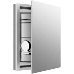 Verdera 24 in. W x 30 in. H Recessed Medicine Cabinet in Anodized Aluminum