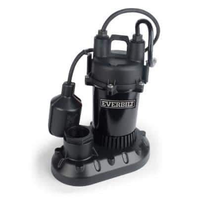 1/3 HP Submersible Aluminum Sump Pump with Tethered Switch