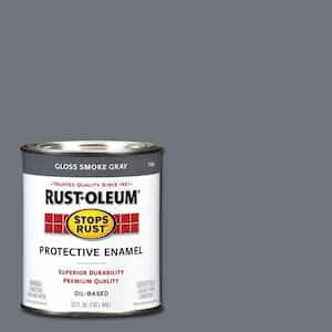 1 qt. Protective Enamel Gloss Smoke Gray Interior/Exterior Paint