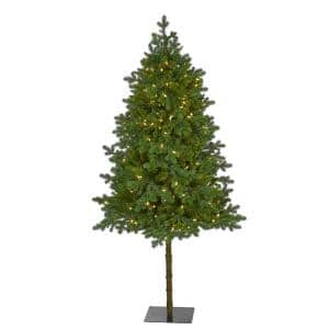 6 ft. Pre-Lit Swiss Alpine Artificial Christmas Tree with 250 Clear LED Lights