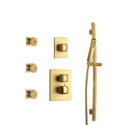 Lady Shower Combo 6 in Satin Gold