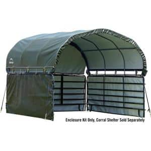 12 ft. D x 12 ft. W Enclosure Kit for Corral Shelter in Green with UV-Treated, Heat-Sealed Panels