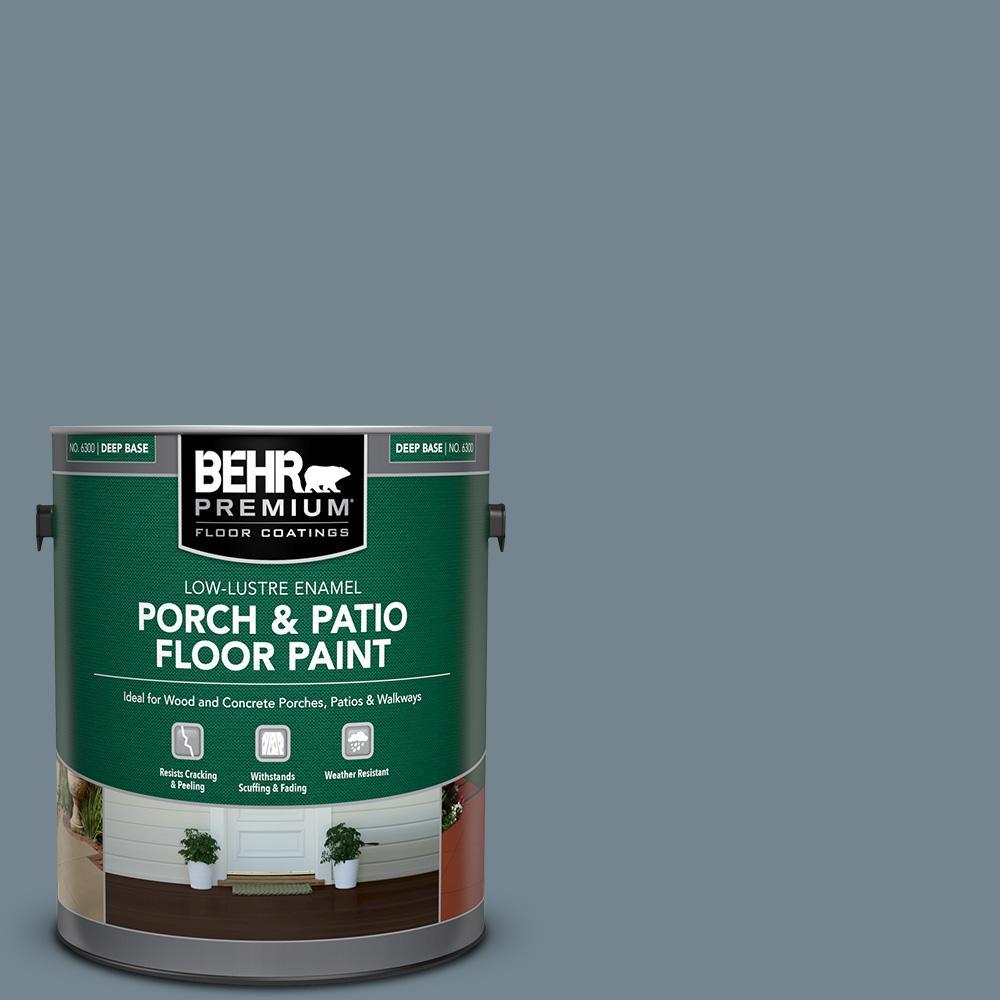 1 gal. #N480-5 Adirondack Blue Low-Lustre Enamel Interior/Exterior Porch and Patio Floor Paint