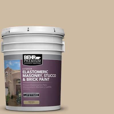 5 gal. #710C-3 Gobi Desert Elastomeric Masonry, Stucco and Brick Exterior Paint