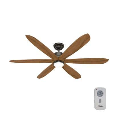 Rhinebeck 58 in. Integrated LED Indoor Noble Bronze Ceiling Fan with Light Kit and Remote