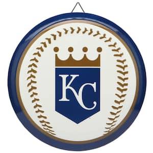 Kansas City Royals Round Baseball Metal Sign