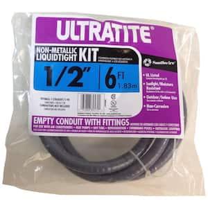 1/2 in. x 6 ft. Ultratite Liquidtight Flexible Non-Metallic PVC Conduit Whip