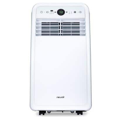 8,000 BTU (4,500 BTU, DOE) Portable Air Conditioner for 200 sq. ft. with Easy Setup Window Venting Kit & Remote - White