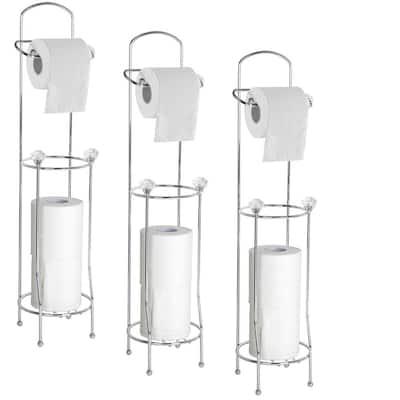 Bath Tissue Reserve Freestanding Toilet Paper Holder in Chrome (3-Pack)