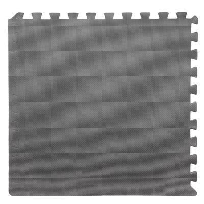 Grey 24 in. x 24 in. x 0.5 in. Interlocking EVA Foam Floor Mat (6-Pack)