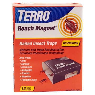 Roach Magnet Baited Insect Traps (12-Count)