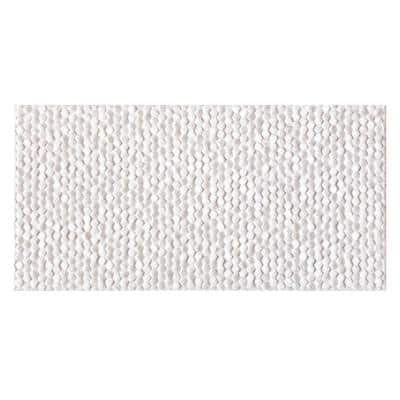 Retreat White 10 in. x 20 in. Glossy Textured Ceramic Wall Tile (10.76 sq. ft./Case)
