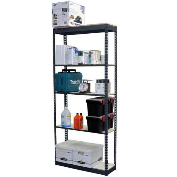 Storage Concepts 5 Tier Boltless Steel Garage Storage Shelving Unit 36 In W X 96 In H X 24 In D P2a5 3624 96l The Home Depot