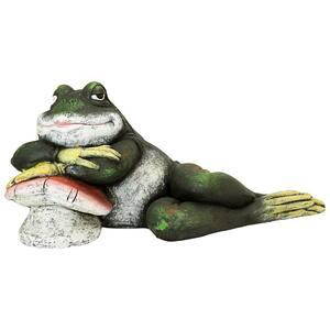 14 in. H Bert The Flirtatious Frog Garden Toad Statue