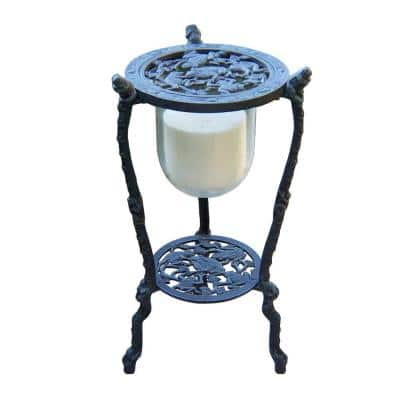 27-1/2 in. H Frog Candle Holder with Candle