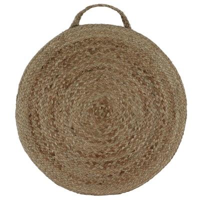 Sanibel Natural Woven Round Floor Cushion