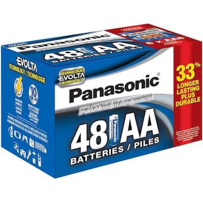 Platinum Power AA Alkaline Batteries (48-Pack)