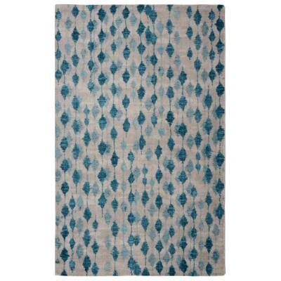 Pendant Contemporary Modern Blue 5 ft. x 7 ft. Area Rug