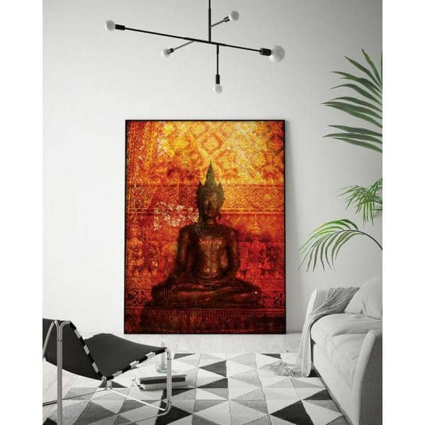 Orange red and gold wall art Abstract wall art Abstract art print Bohemian Art Shapes wall art Modern wall art print Bedroom wall art
