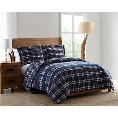 Lakewood 3-Piece Twin Plaid Comforter Set
