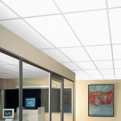 Yuma White 2 ft. x 4 ft. Lay-in Ceiling Tile (64 sq. ft. / Case)