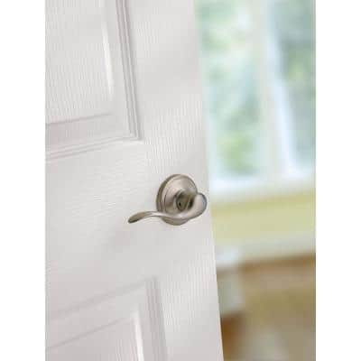 Tustin Satin Nickel Passage Hall/Closet Door Lever Featuring Microban Antimicrobial Technology