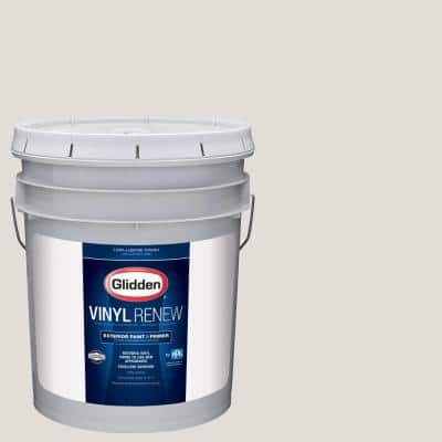 5 gal. #HDGWN48 Toasted White Low-Lustre Exterior Paint with Primer