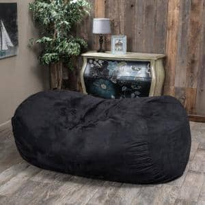 Barracuda Black Suede Bean Bag Cover