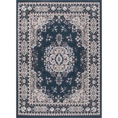 Premium Blue 5 ft. 2 in. x 7 ft. 4 in. Indoor Area Rug