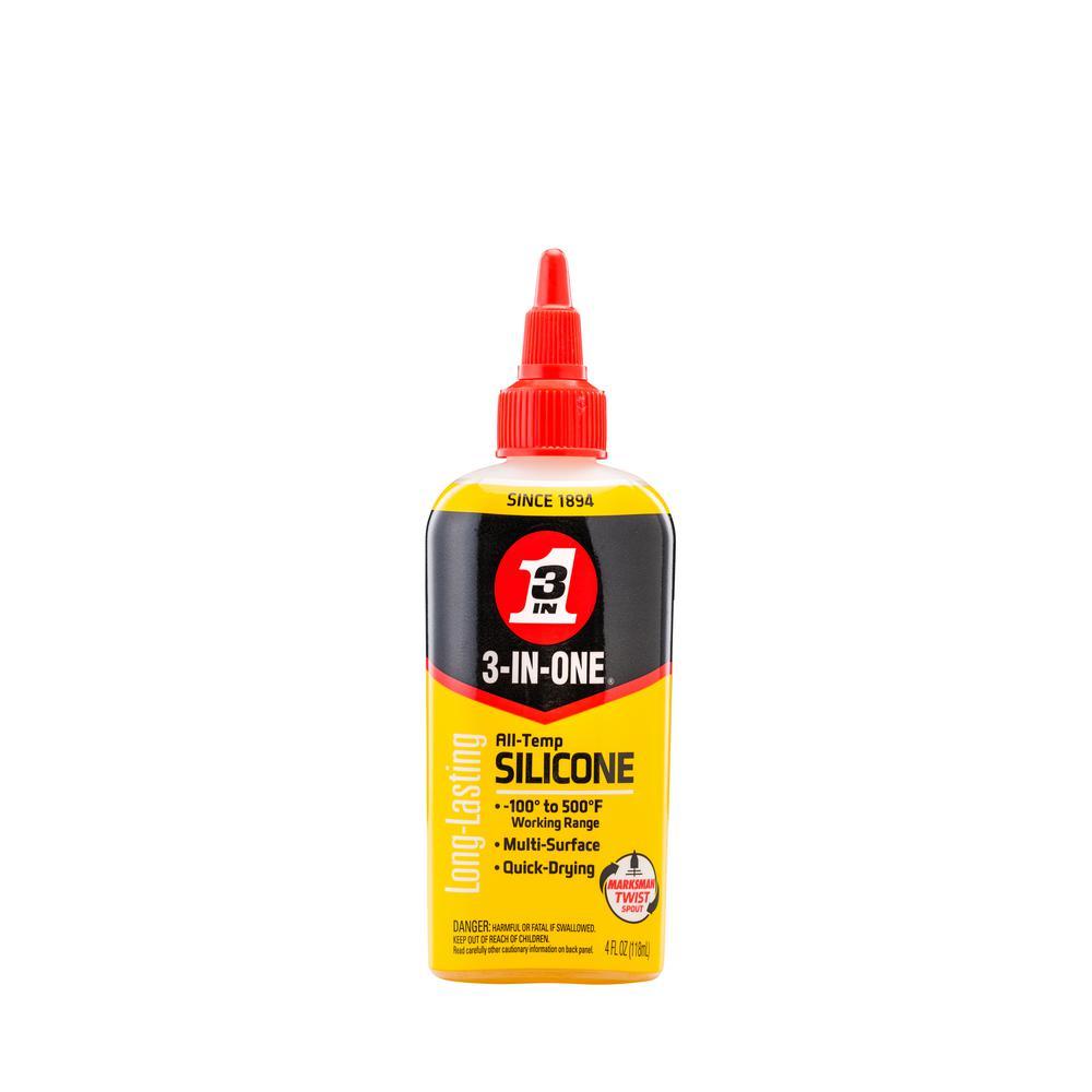 4 oz. All-Temp Silicone Drip Oil, Long-Lasting Lubricant
