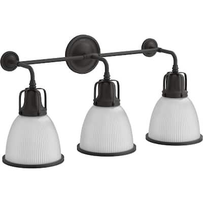 Hauksbee 3-Lights Matte Black Wall Sconce