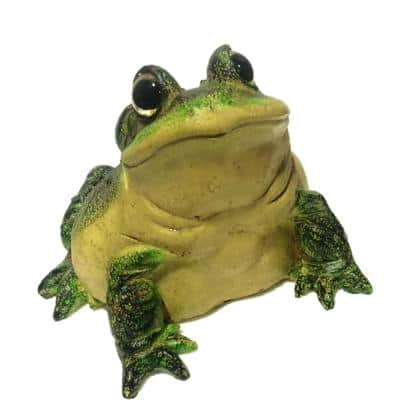 8-1/2 in. Large Bullfrog Home and Garden Toad Statue