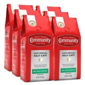 12 oz. Half-Caff Medium-Dark Roast Premium Ground Coffee (6-Pack)