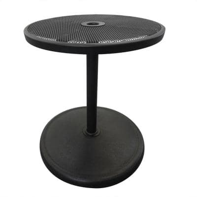Umbrella Base with Adjustable Table Top in Black