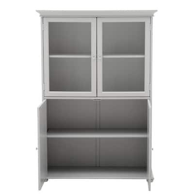 Hampton Harbor 36 in. W x 14 in. D x 52-1/2 in. H Linen Storage Cabinet in Dove Grey