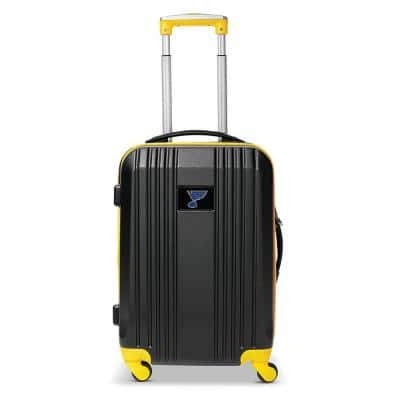 NHL St Louis Blues 21 in. Yellow Hardcase 2-Tone Luggage Carry-On Spinner Suitcase