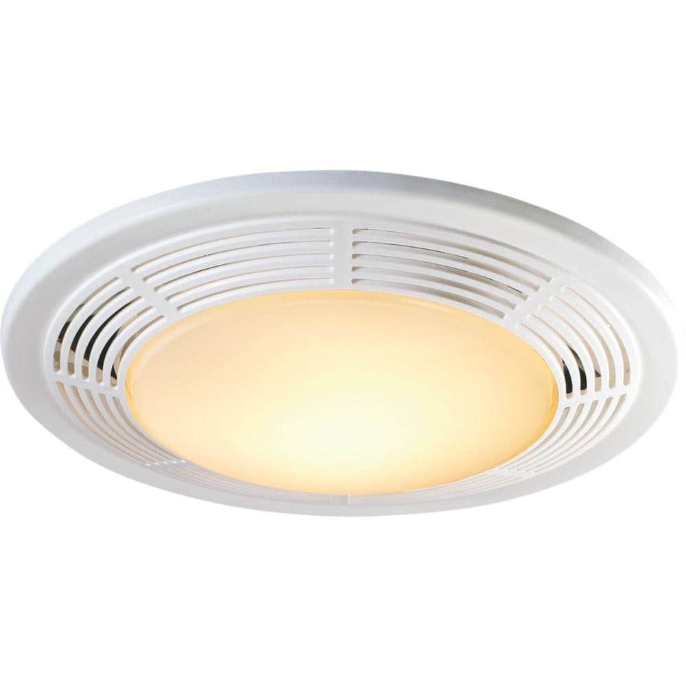 Broan Nutone Decorative White 100 Cfm Bathroom Exhaust Fan With Light And Night Light 8663rp The Home Depot