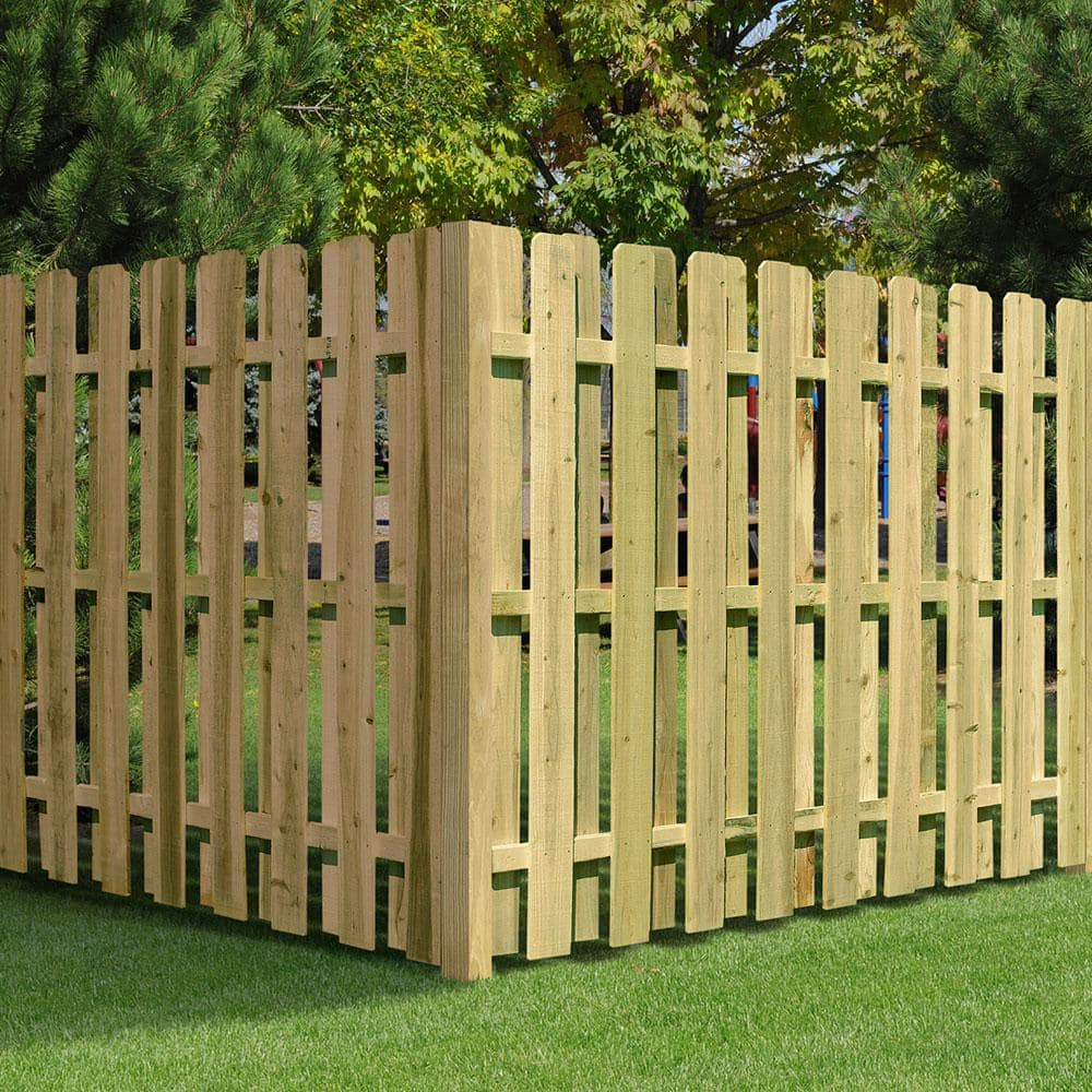 6 ft. H x 8 ft. W Pressure-Treated Pine Shadowbox Fence Panel