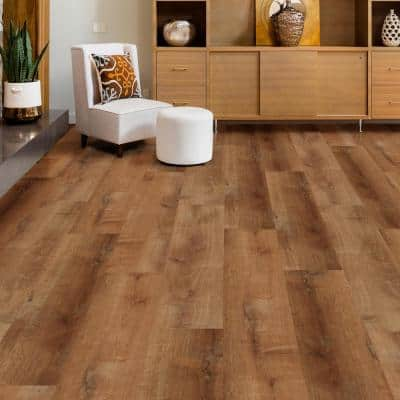 Trail Oak 8.7 in. W x 47.6 in. L Click-Lock Luxury Vinyl Plank Flooring (56 cases/1123.36 sq. ft./pallet)