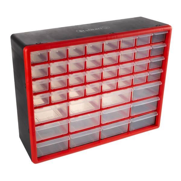4xhelit Stehsammler Stehordner Ordnerbox Prospektständer Economy  DIN A4 PP rot
