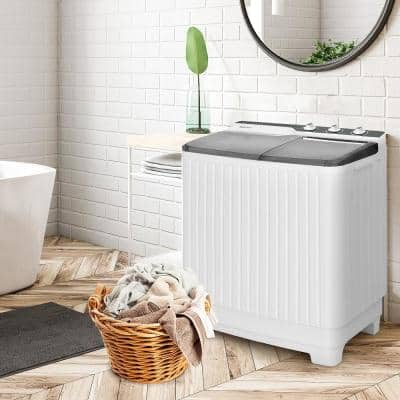 4.9 cu.ft. Washer 8.5lbs Spinner High Efficiency Portable Top Load Washer in Gray with UL Certified