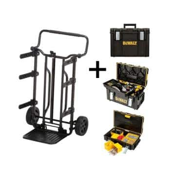 TOUGHSYSTEM 27 in. Tool Box Carrier, Extra Large Tool Box, Medium Tool Box and Small Tool Box Combo (4-Piece Set)
