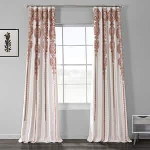 Cyprus Rust Damask Blackout Curtain - 50 in. W x 84 in. L