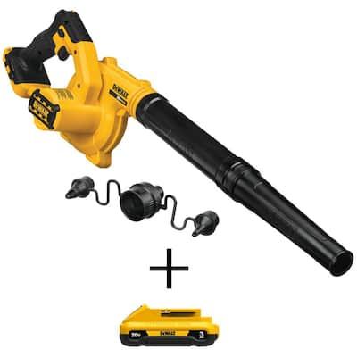 20-Volt MAX Cordless Compact Jobsite Blower 135 MPH 100 CFM with (1) 20-Volt 3.0Ah Battery